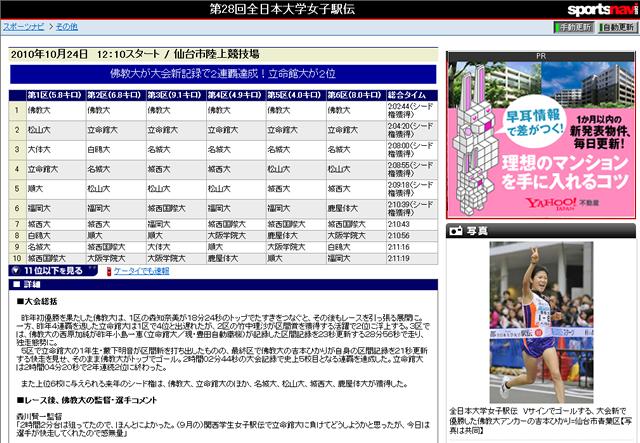第28回全日本大学女子駅伝 佛教大が大会新で2連覇達成
