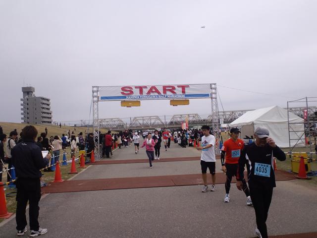 第1回なにわ淀川ハーフマラソン無事完走