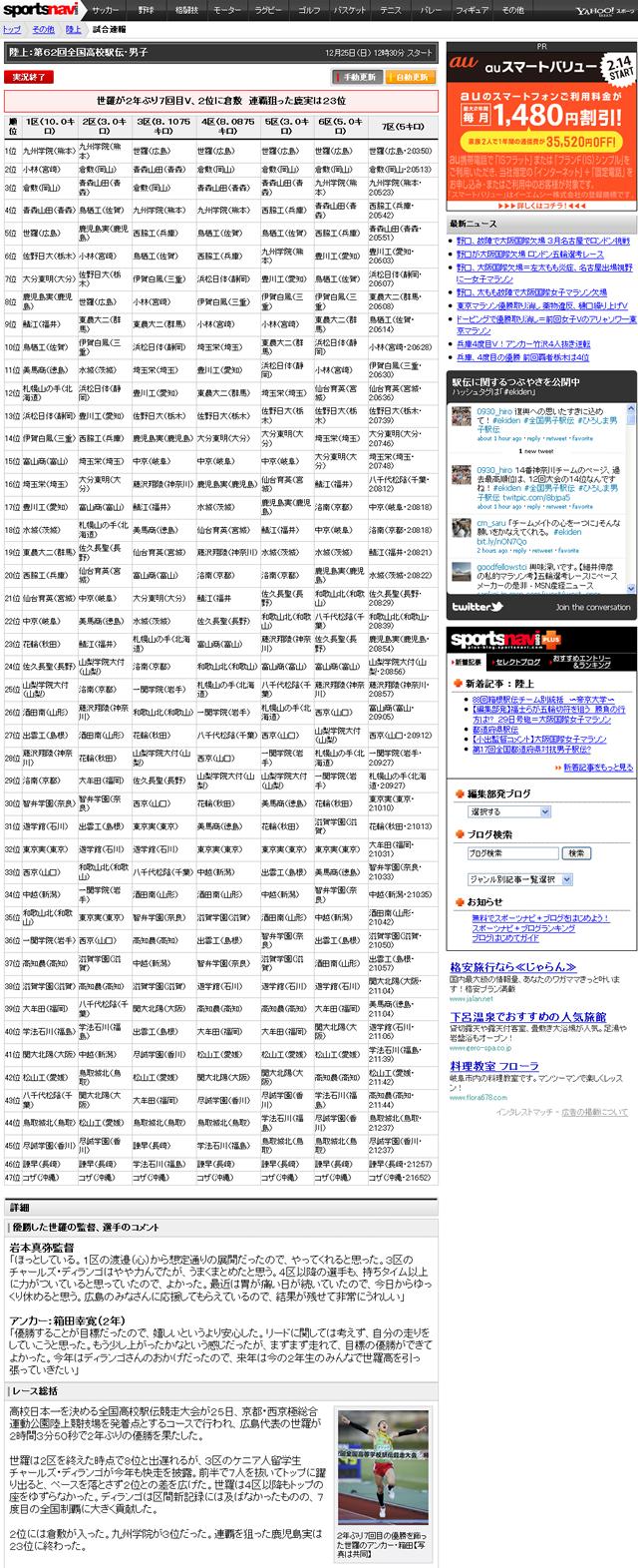 第62回全国高校男子駅伝 広島・世羅が2年ぶり7回目V