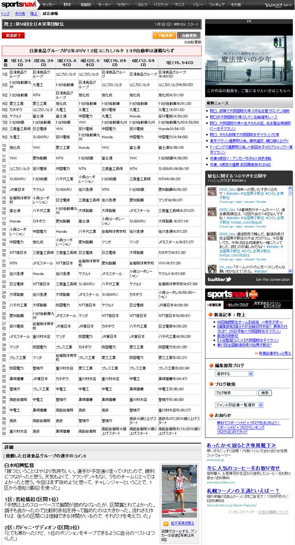 第56回全日本実業団駅伝 日清食品が2年ぶりV トヨタは連覇ならず